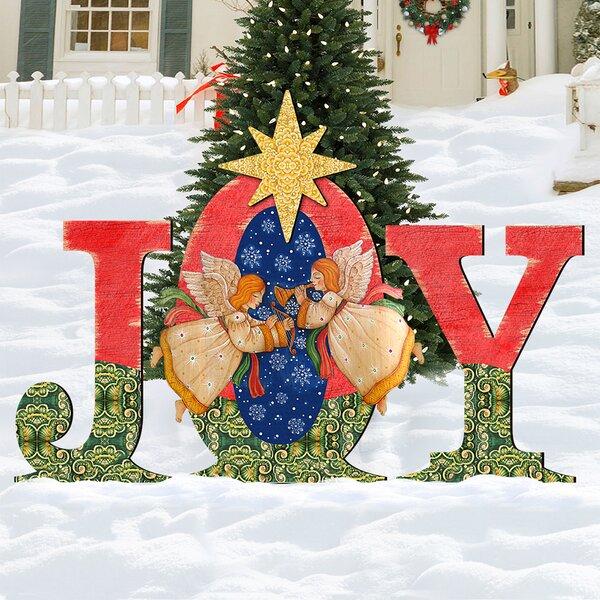 Joy Angel Yard Lawn Art by The Holiday Aisle