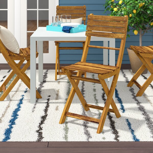 Carthage Folding Patio Dining Chair (Set of 4) by Zipcode Design