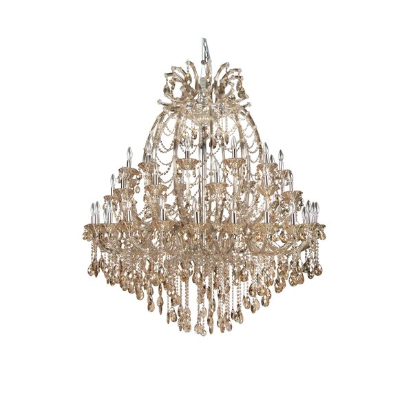 Horsham 48 - Light Candle Style Tiered Chandelier by Rosdorf Park Rosdorf Park