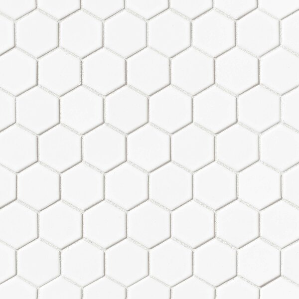 Hex 2 x 2 Porcelain Mosaic Tile in Matte White by Grayson Martin