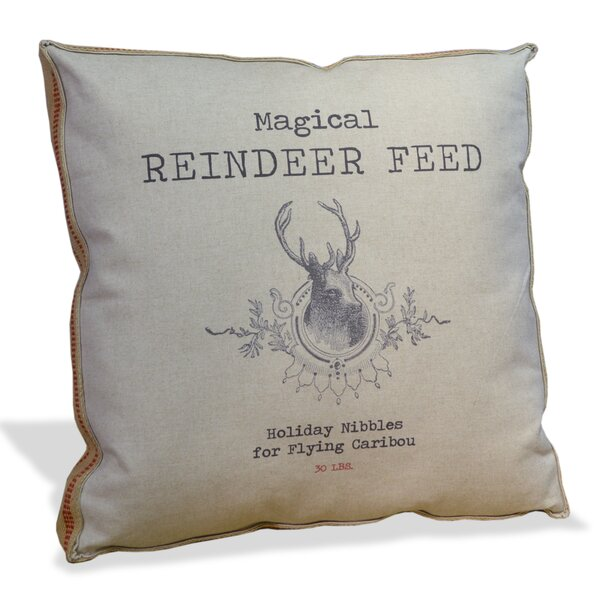 Magical Reindeer Feed Throw Pillow by Tapestries, Ltd.
