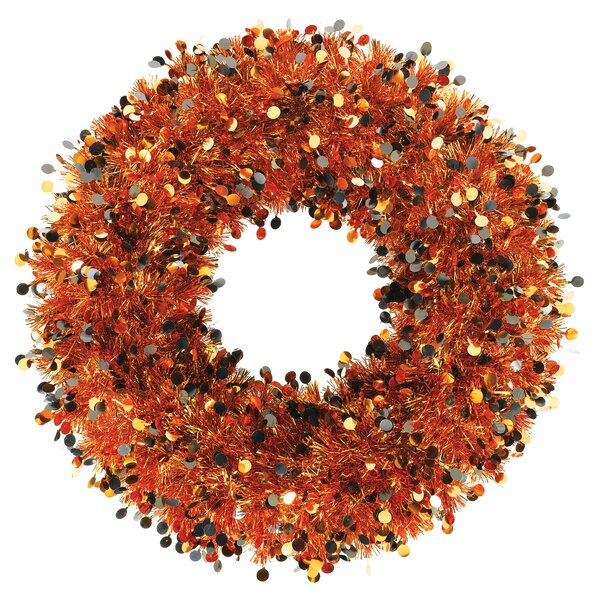 Halloween 17 Tinsel Wreath by Amscan