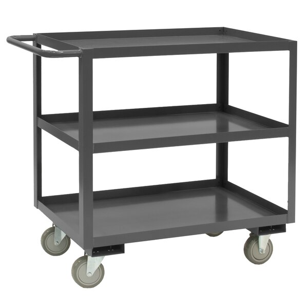 37.63 H x 48 W x 18 D 14 Gauge Steel Rolling Service Stock Cart by Durham Manufacturing