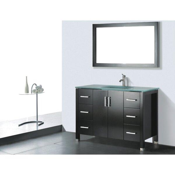 Amara 48 Single Bathroom Vanity Set with Mirror by Adornus