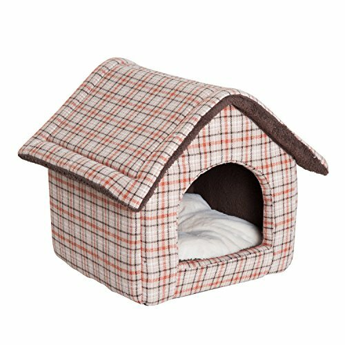 Euclid Portable Soft Hooded Dog House with Cushion