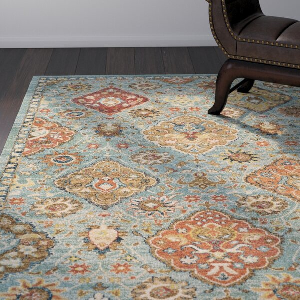 Masala Market Blue Area Rug by World Menagerie