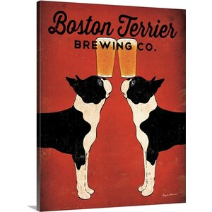'Boston Terrier Brewing Co' by Ryan Fowler Vintage Advertisement on Gallery Wrap Canvas by Great Big Canvas