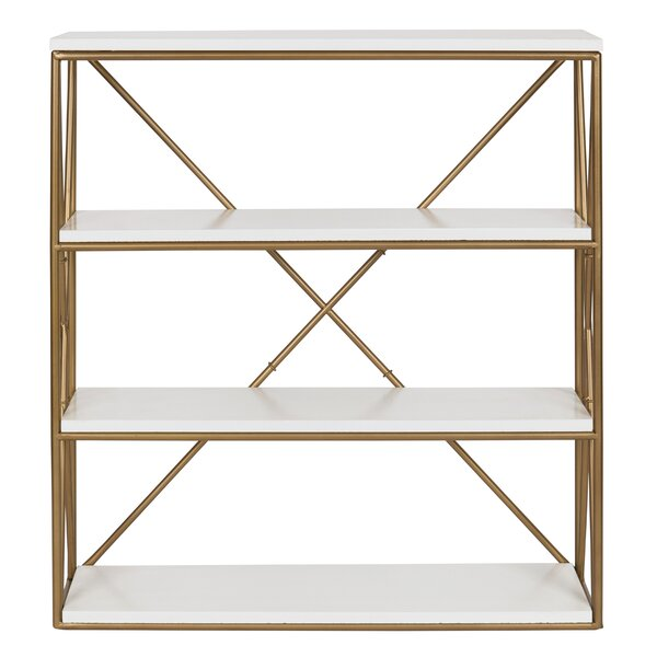 Dawley 4-Layer Modern Luxe Wooden Wall Shelf by Everly Quinn