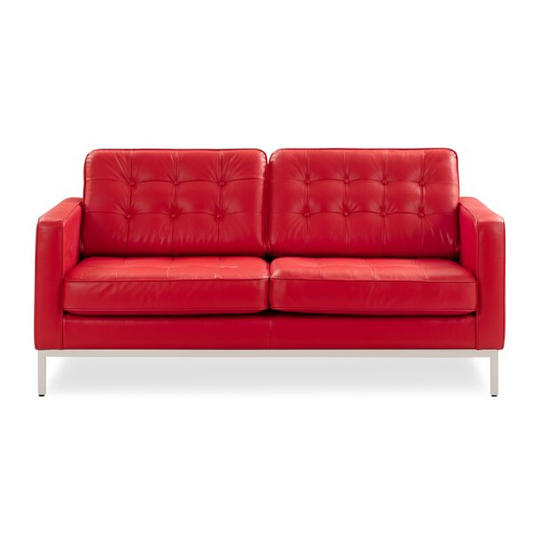 Shop Special Prices In Hessle Leather Loveseat Hello Spring! 60% Off