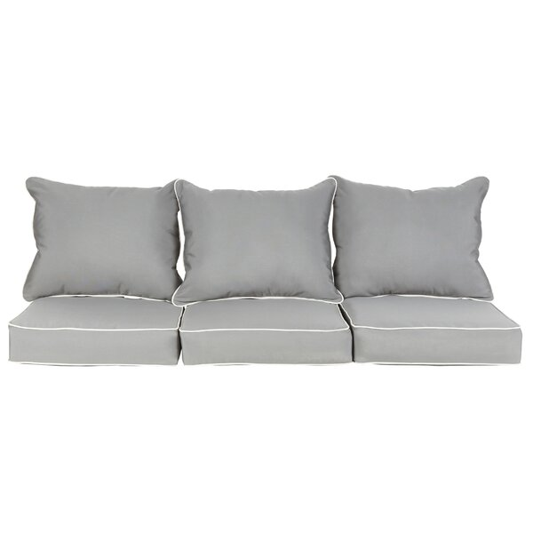 Saechao Indoor/Outdoor Sunbrella Sofa Cushion (Set of 3)