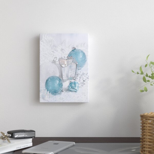 Festive Ornaments Photographic Print on Wrapped Canvas by East Urban Home