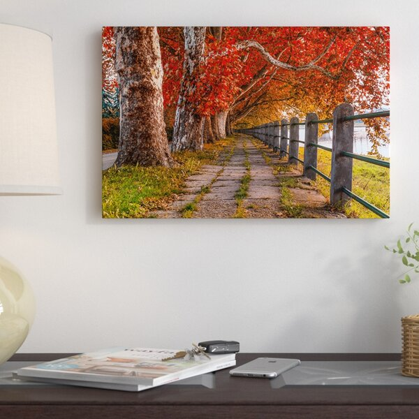 Walk By The River Photographic Print on Wrapped Canvas by Red Barrel Studio