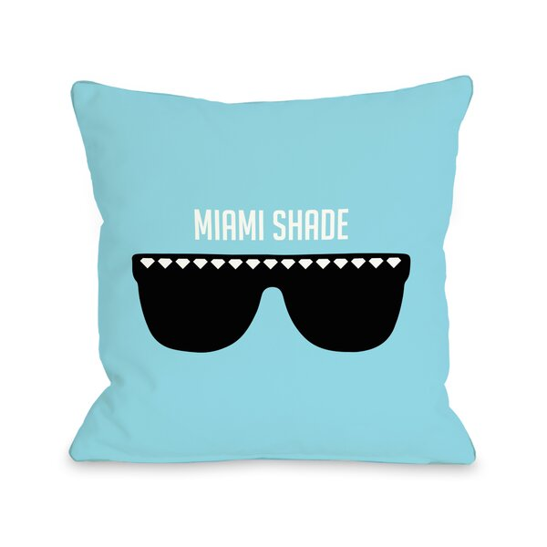Miami Shade Sunglasses Throw Pillow by One Bella Casa