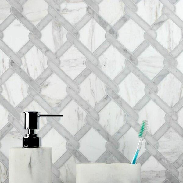 Fishing Net Marble Novelty Mosaic Subway Wall & Floor Tile