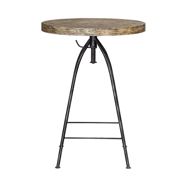Mariah Adjustable Pub Table by 17 Stories