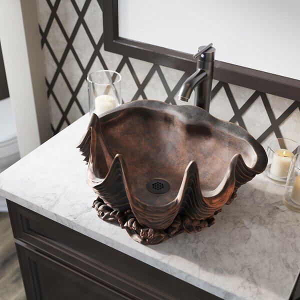 Bronze Specialty Vessel Bathroom Sink With Faucet