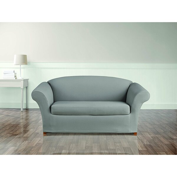 Stretch Seersucker Box Cushion Loveseat Slipcover by Sure Fit