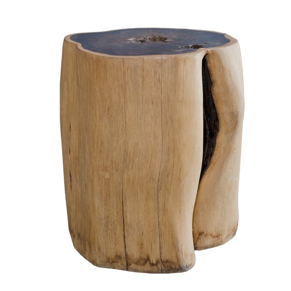 Kuykendall Rosewood Round Accent Stool by Union Rustic