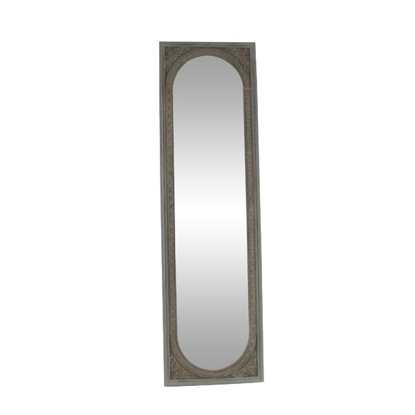 Channing Modern Rectangular Wood Full Length Mirror by Ophelia & Co.