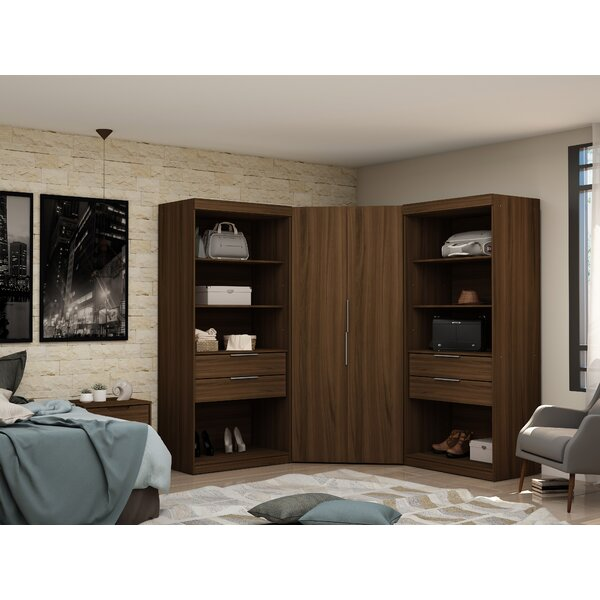 Delhi Semi Open 3 Sectional Wardrobe Armoire (Set of 3) by Latitude Run Latitude Run