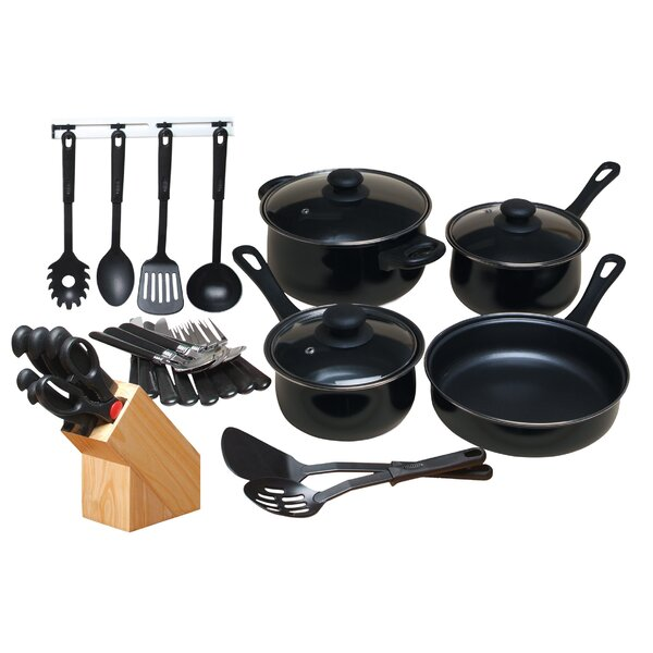 32 Piece Non-Stick Cookware Combo Set by Gibson