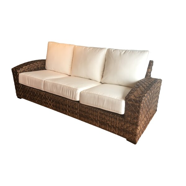 Lankford Sunbrella Patio Sofa with Cushions by Bayou Breeze