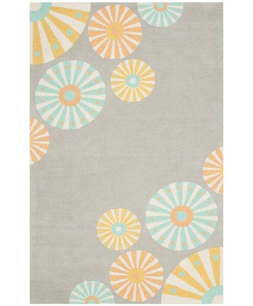Candy Shop Tufted-Hand-Loomed Gray/Orange/Blue Area Rug by Martha Stewart Rugs