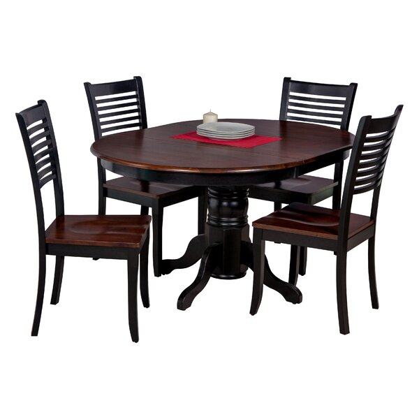 Maryrose Modern 5 Piece Solid Wood Dining Set by Darby Home Co