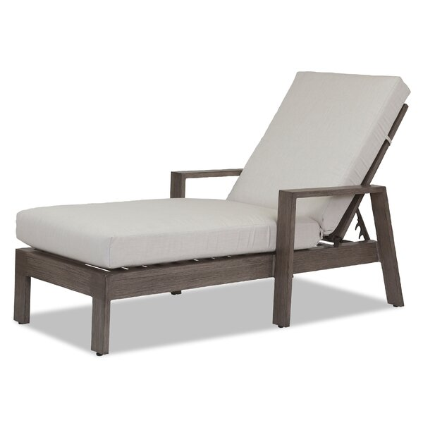 Laguna Double Chaise Lounge with Cushion by Sunset West
