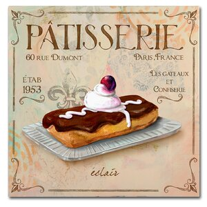 'Patisserie III' Vintage Advertisement on Wrapped Canvas by Trademark Fine Art