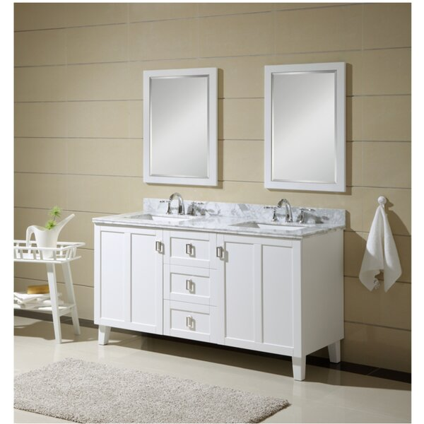 Larabee 60 Double Sink Bathroom Vanity Set by Latitude Run