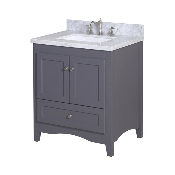 Abbey 30 Single Bathroom Vanity Set by Kitchen Bath Collection