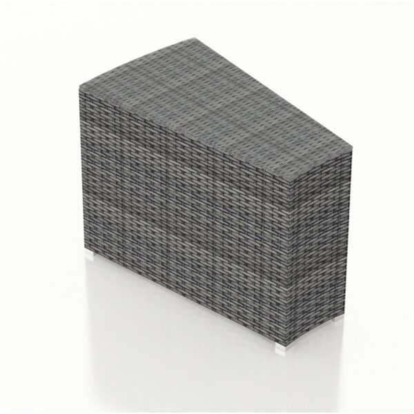Hobbs wicker Side Table by Rosecliff Heights