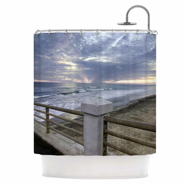 Oceanside Pier at Sunset Shower Curtain by East Urban Home