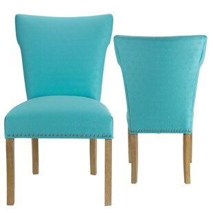 Affordable Price Amoll Upholstered Dining Chair (Set of 2) by Highland Dunes