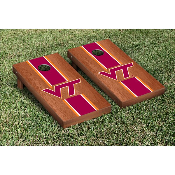NCAA Rosewood Stained Stripe Version 1 Cornhole Game Set by Victory Tailgate