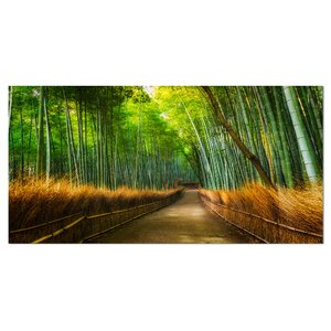 Arashiyama Bamboo Grove Japan Photographic Print on Wrapped Canvas by Design Art