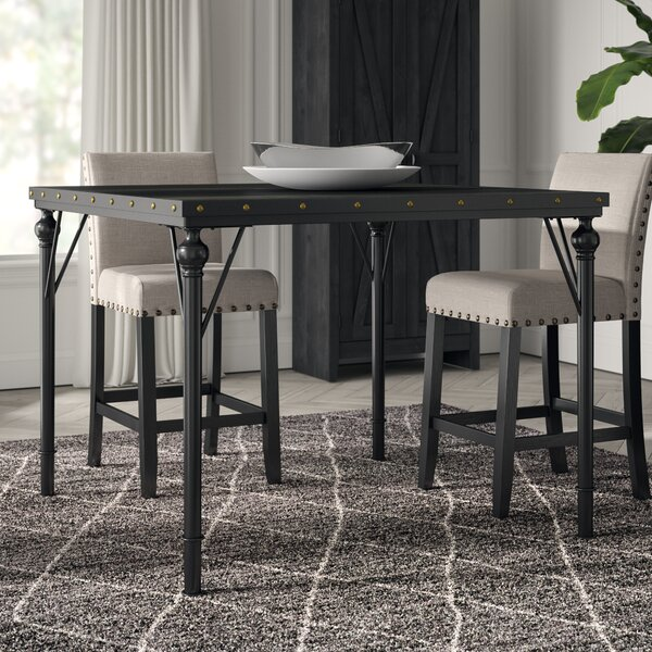 Crooke Wood Counter Height Dining Table by Greyleigh