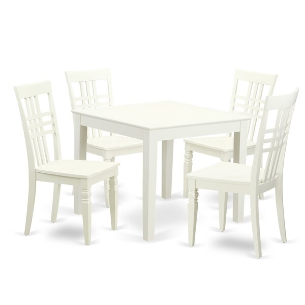 Stegall 5 Piece Dining Set by Charlton Home Charlton Home