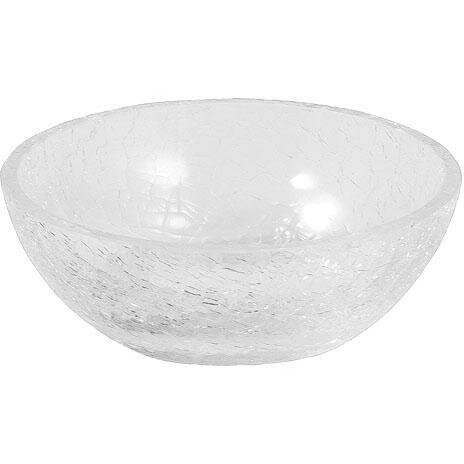Petunia Crackled Glass Free Standing Soap Dish by Rosdorf Park