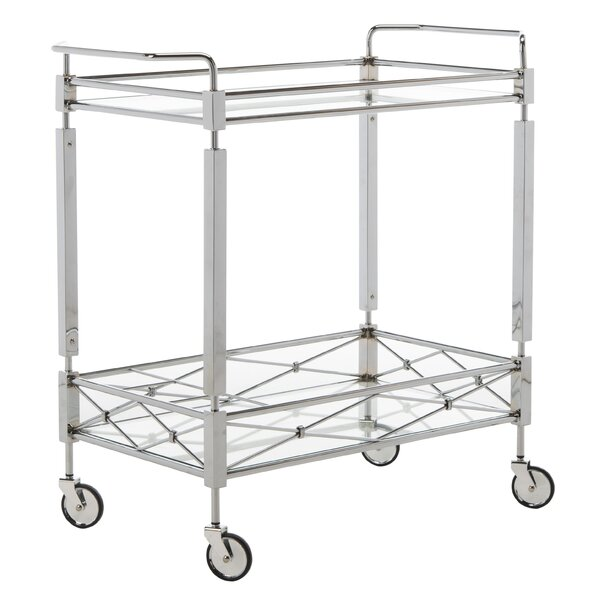 Baynham 2 Tier Rectangle Bar Cart By Mercer41 New