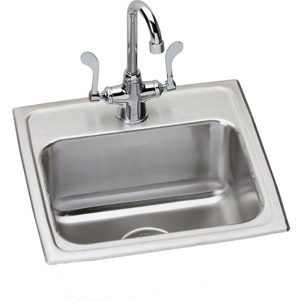 Lustertone 17 L x 16 W Drop-in Kitchen Sink with Faucet Kit