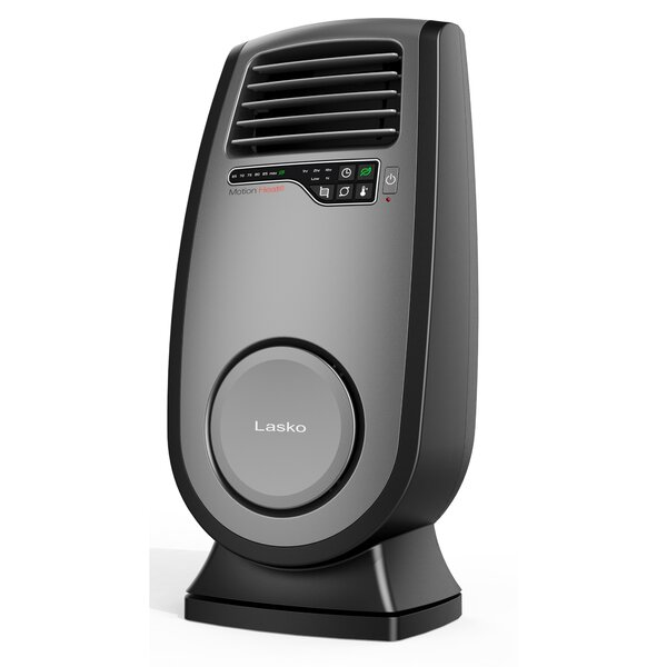 Ceramic 1,500 Watt Portable Electric Fan Compact Heater with Adjustable Thermostat by Lasko