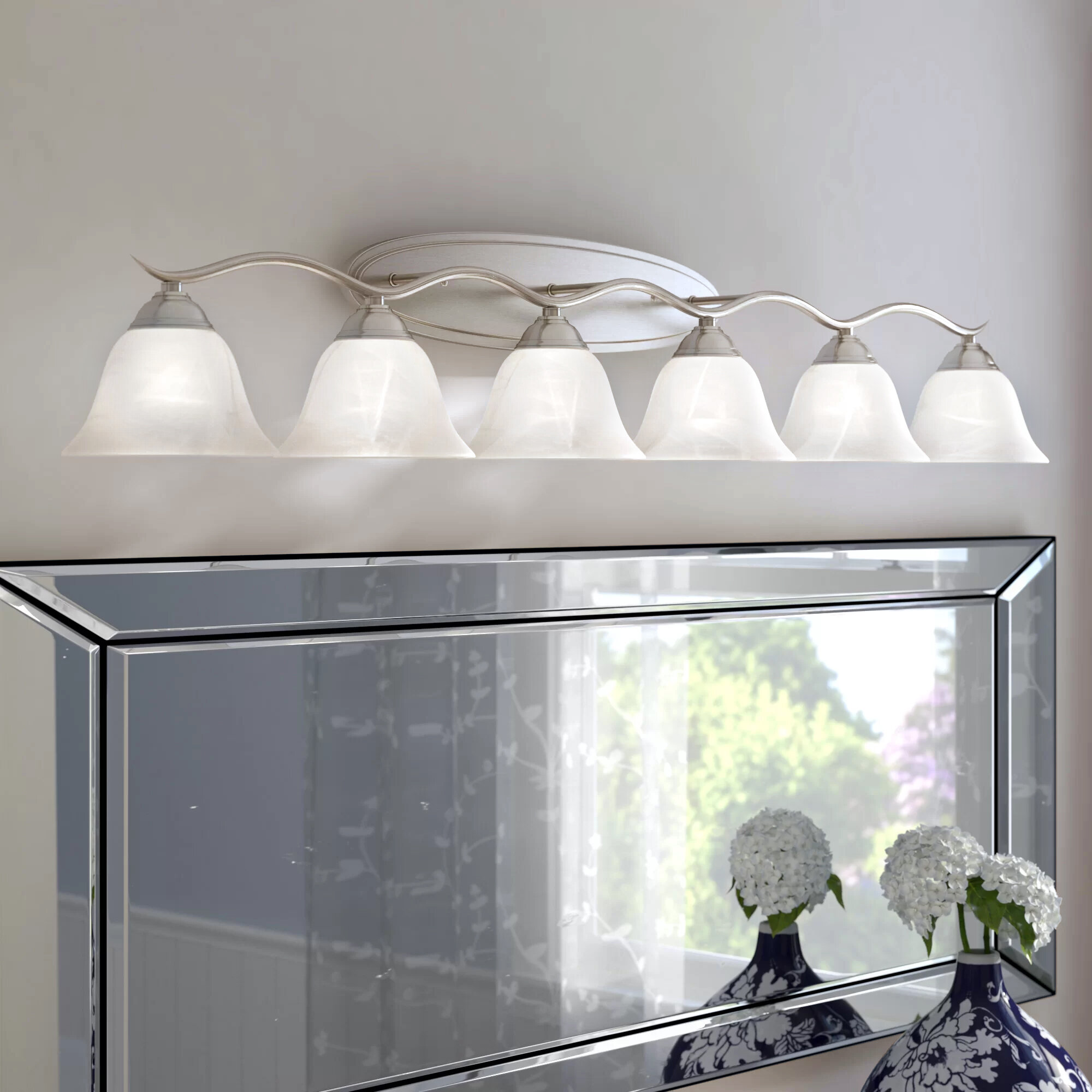 Andover mills corwin 6 light vanity light reviews wayfair aloadofball Gallery
