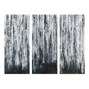 'Birch Forest' 3 Piece Graphic Art on Wrapped Canvas Set (Set of 3) by Wade Logan