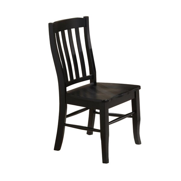 Courtdale Solid Wood Dining Chair (Set of 2) by Three Posts
