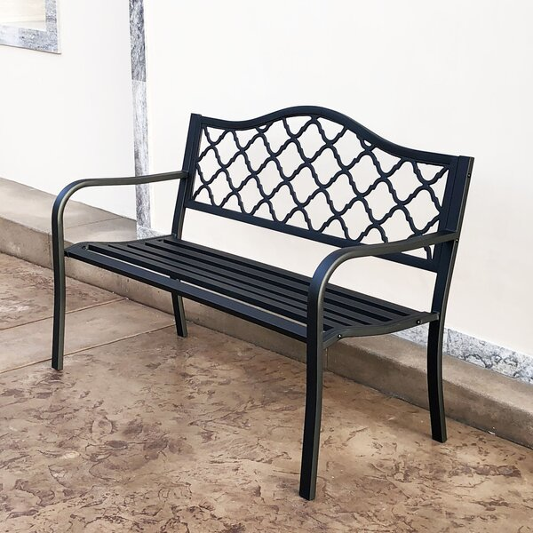 Nicia Steel Garden Bench by Charlton Home Charlton Home