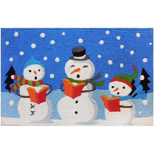 Iain Caroling Snowmen Mat