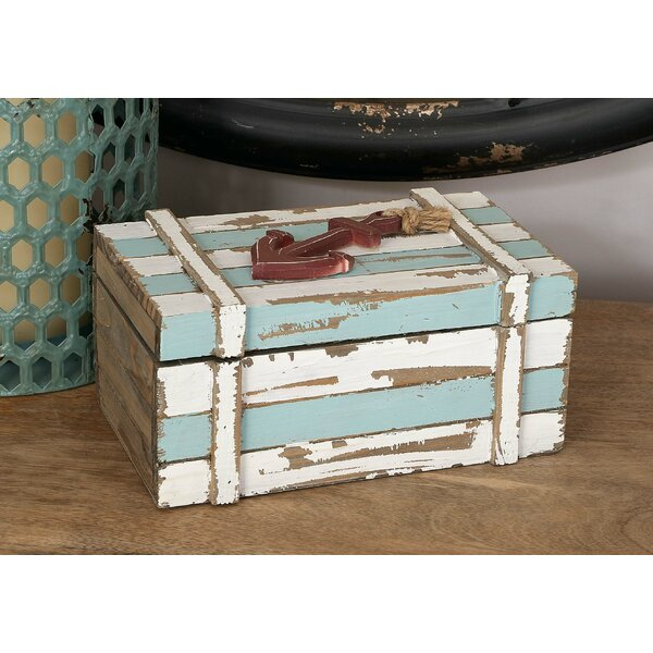 Benites 2 Piece Wood Box Nautical Maritime Decor Set by Breakwater Bay