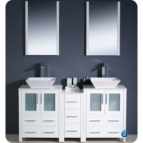 Torino 60 Double Bathroom Vanity Set with Mirror